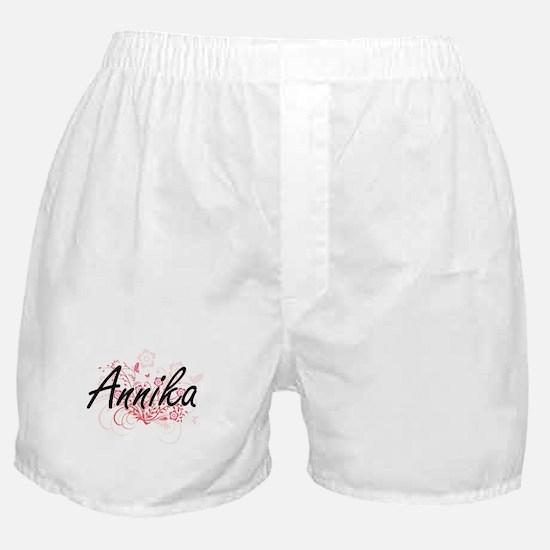 Annika Artistic Name Design with Flow Boxer Shorts