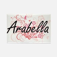 Arabella Artistic Name Design with Flowers Magnets