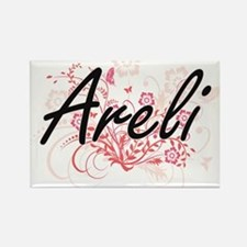 Areli Artistic Name Design with Flowers Magnets