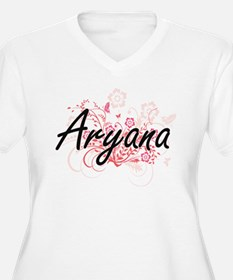 Aryana Artistic Name Design with Plus Size T-Shirt
