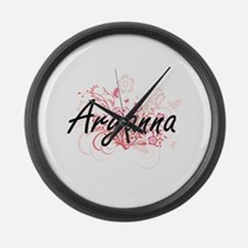 Aryanna Artistic Name Design with Large Wall Clock