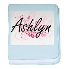Ashlyn Artistic Name Design with Flow baby blanket