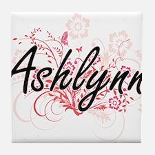 Ashlynn Artistic Name Design with Flo Tile Coaster