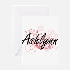 Ashlynn Artistic Name Design with F Greeting Cards