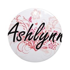 Ashlynn Artistic Name Design with F Round Ornament