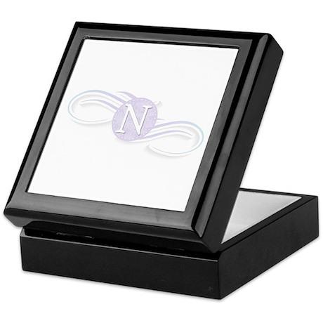 Monogram N Swirl Keepsake Box