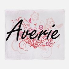 Averie Artistic Name Design with Flo Throw Blanket