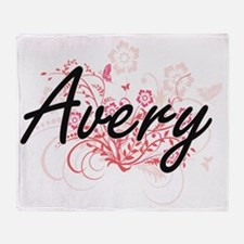 Avery Artistic Name Design with Flow Throw Blanket