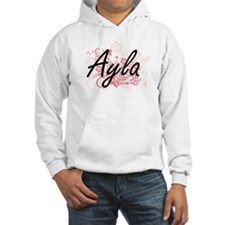 Ayla Artistic Name Design with F Hoodie