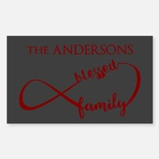 Personalized Family Name Infin Sticker (Rectangle)