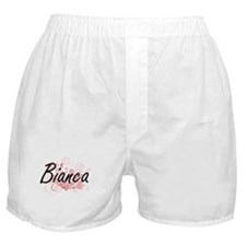 Bianca Artistic Name Design with Flow Boxer Shorts