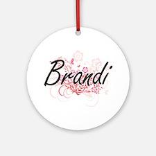 Brandi Artistic Name Design with Fl Round Ornament