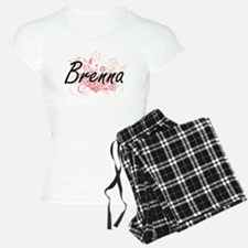Brenna Artistic Name Design Pajamas