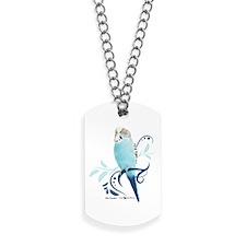 Blue Parakeet Dog Tags
