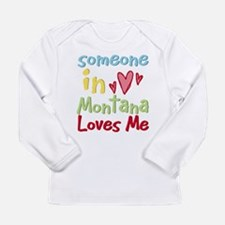 Someone north dakota loves me Long Sleeve Infant T-Shirt