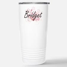 Bridget Artistic Name D Stainless Steel Travel Mug