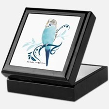Blue Parakeet Keepsake Box