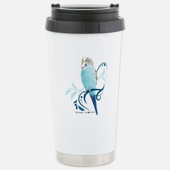 Blue Parakeet Stainless Steel Travel Mug