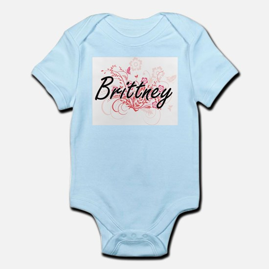 Brittney Artistic Name Design with Flowe Body Suit