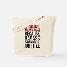 Radiologic Technologist Tote Bag