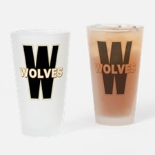 W WOLVES Drinking Glass