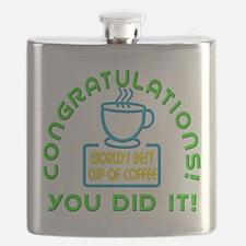 Congratulations You Did It Elf Classic Flask