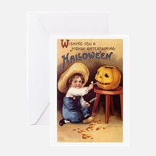 Pumpkin Carving Greeting Card