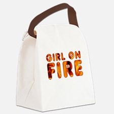 Hunger Games Girl on Fire Canvas Lunch Bag