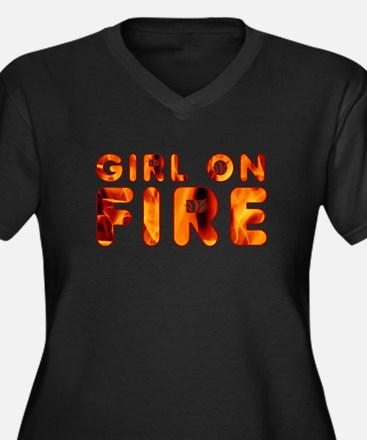 Hunger Games Girl on Fire Plus Size T-Shirt