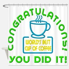 Congratulations You Did It Elf Classic Shower Curt
