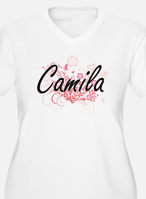 Camila Artistic Name Design with Plus Size T-Shirt