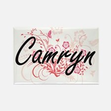 Camryn Artistic Name Design with Flowers Magnets