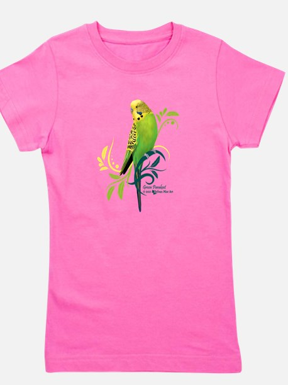 Green Parakeet Girl's Tee