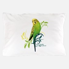 Green Parakeet Pillow Case