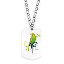 Green Parakeet Dog Tags