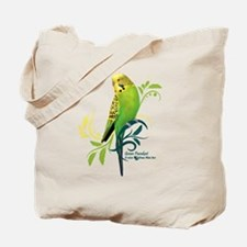 Green Parakeet Tote Bag