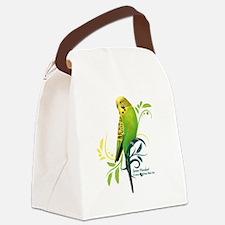 Green Parakeet Canvas Lunch Bag