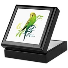 Green Parakeet Keepsake Box