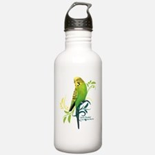 Green Parakeet Water Bottle