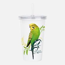 Green Parakeet Acrylic Double-wall Tumbler