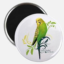 Green Parakeet Magnets