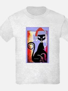 Santa Diva Cat Purple T-Shirt