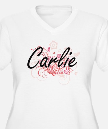 Carlie Artistic Name Design with Plus Size T-Shirt