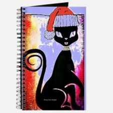 Santa Diva Cat Purple Journal