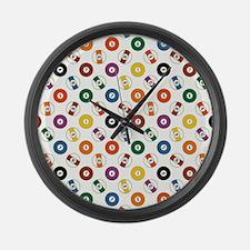 POOL BALLS Large Wall Clock
