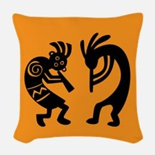 kokopelli design Woven Throw Pillow