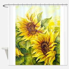 Cute Sunflower van gogh Shower Curtain