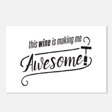 This WINE is making me Awesome! Postcards (Package