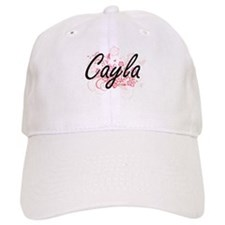 Cayla Artistic Name Design with Flowers Baseball Cap