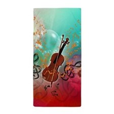 Violin with violin Beach Towel